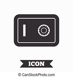 Safe sign icon. Deposit lock symbol. Protection for your...