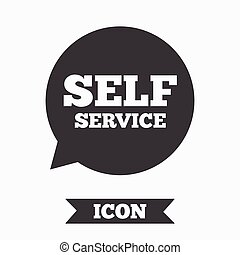 Self service sign icon. Maintenance symbol. - Self service...