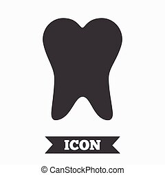 Tooth sign icon. Dental care symbol. Graphic design element....