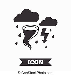 Storm bad weather sign icon Gale hurricane - Storm bad...