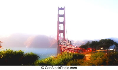 Golden Gate Bridge tilt shift style - California Golden Gate...