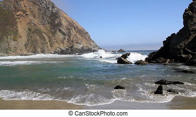 California ocean beach rocks - Pfeiffer Beach California...