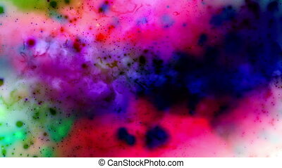 Multi-color cosmic VJ loop - Animated Background Multi-color...
