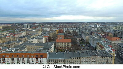 Aerial: Wroclaw in autumn, Poland