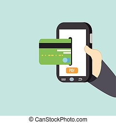 pay with mobile payments and credit card