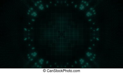 Strobe geometric abstract backdrop