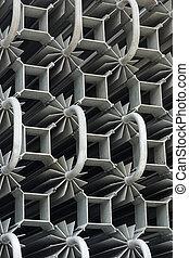 heat exchanger - closeup details of heat exchangers