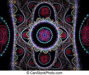 Colorful Julian fractal. Fancy cloth. - Colorful Julian...