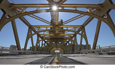 Sacramento California Tower Bridge Dolly Shot - Tower Bridge...