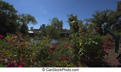 Sacramento California Promenade River Walk - Flowers and...