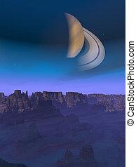 Alien World Landscape - An alien landscape with an alien...