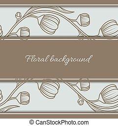 Floral vintage seamless background