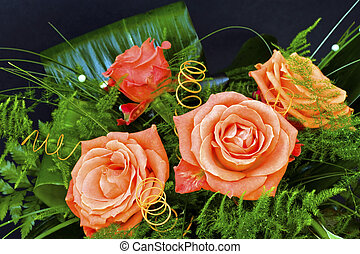 Roses - Beautiful roses set into an ornate bunch