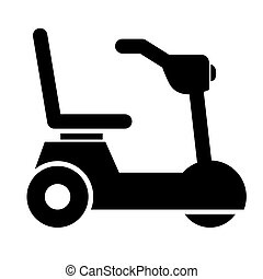 wheelchair for disabled person isolated icon design, vector...