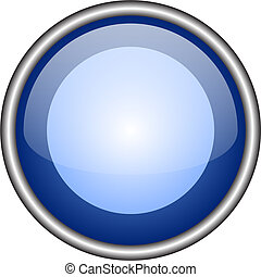 Web button - Illustration of glass web button. There is...