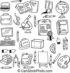 Doodle of education object stock