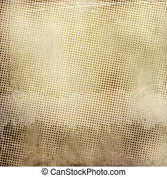 Grunge paper background with halftone patterns - Vintage and...
