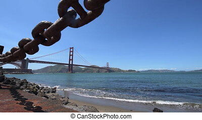Golden Gate Bridge San Francisco Dolly Shot - Camere...