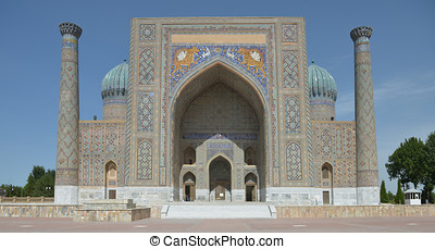 The Registan square in Samarkand
