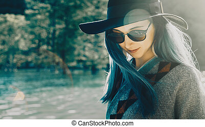 Boho style young woman