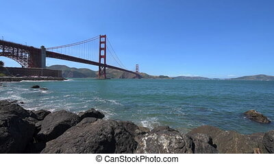 Golden Gate Bridge San Francisco Dolly Shot - Golden Gate...