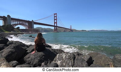 Visiting San Francisco California - California Tourist Young...