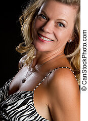 Smiling Middle Aged Woman - Beautiful smiling middle aged...