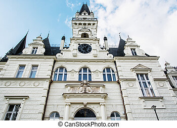 Budmerice castle in Slovak republic, cultural heritage -...