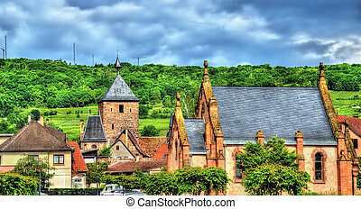 View of Molsheim, a town in the Vosges - France