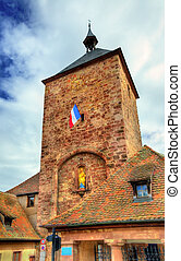 Tour des Forgerons, Blacksmiths tower in Molsheim - France -...
