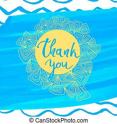 Thank you message, tank you text. Vector illustration.
