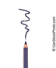 close up of an eyeliner on white background