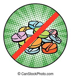 Stop doping sign icon