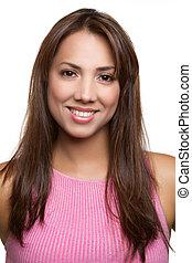 Pretty Woman - Pretty smiling latina woman portrait