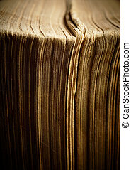 Vintage book - the edges of pages. Macro; shallow DOF.