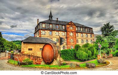 Wine barrel in Molsheim - Bas-Rhin, France - Wine barrel in...