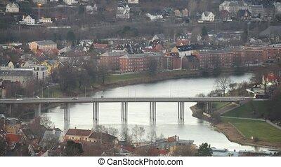 new Bridge view in Trondheim, Norway