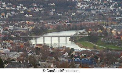 new Bridge in Trondheim, Norway - Old Bridge in Trondheim,...