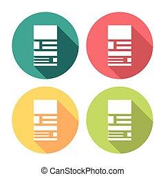 Web Page Layout Flat Icons Set