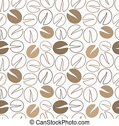 Coffee beans pattern - Coffee beans seamless pattern