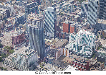 View from the CN Tower in Toronto city