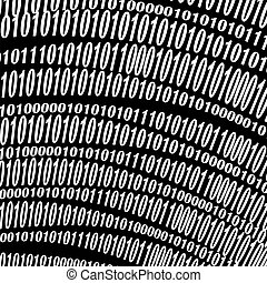 Data Code, Decryption and Encoding - Binary Code Background...