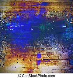 Grunge colorful texture, aged weathered background with...