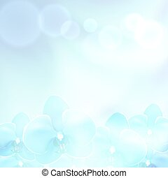 Blue flower orchid background