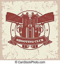 Symbol shooting club - The vector image of Symbol shooting...