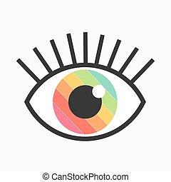Color eye symbol. Vector illustration