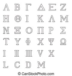 Greek Alphabet Isolated - The letters of the Greek alphabet...
