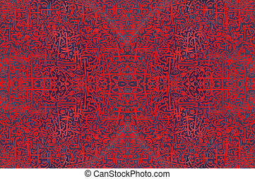 Abstract African Tribal vintage ethnic pattern ornamental...