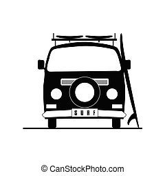 surf vehicle icon in black color illustration on white
