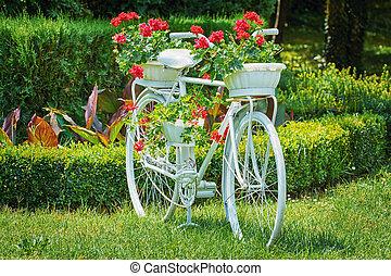 Vélo, à, fleurs